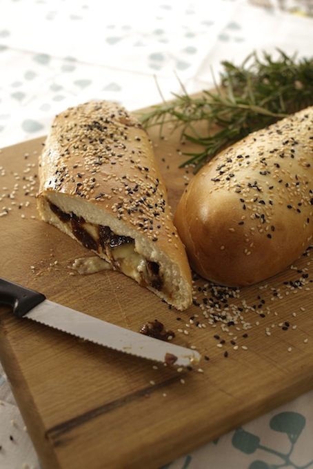 Blue Cheese Onion Jam and rosemary Turkish Bread
