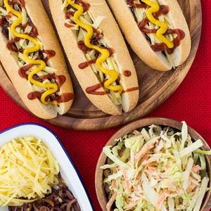 Hot Dogs with Apple Slaw - My Food Bag