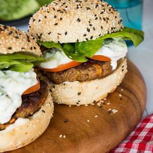 Indian Lamb Burgers with Raita - My Food Bag