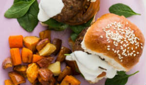 Mini Lamb Burgers with Roast Veggies - My Food Bag