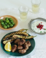 Cumin spiced meatballs with minted yoghurt