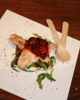 Ginger loaf with gurnard and cranberry compote by Aylene Fitzgerald