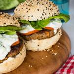 Indian Lamb Burgers with Raita - My Food Bag