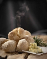 Volcanic Ciabatta with herbed garlic butter