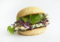 Thai chicken burger with slaw