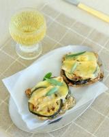 Toasted eggplant, taleggio and walnut sandwiches - gluten free
