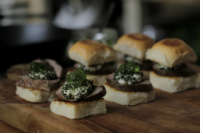 Lamb, Goats Cheese and Mint Jelly Sliders - by Al Brown