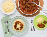 Italian Beef Meatballs with Couscous - My Food Bag