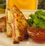 Champagne Ham & Provolone Croque Monsieur as seen on Good Morning