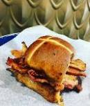 Hot Cross Bun Bacon Butty